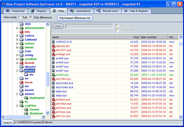 SysTracer - system trace,file trace,registry trace,system snapshot,registry watch,file syste - Tool for tracing changes in: files, registry, startup applications and services.
